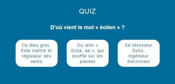 """Quiz #5 D'où vient le mot """"éolien"""""""