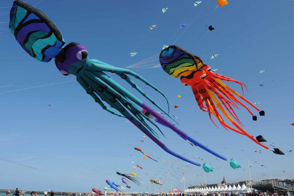 Photo prise au festival du Cerf-Volant de Dieppe en 2012