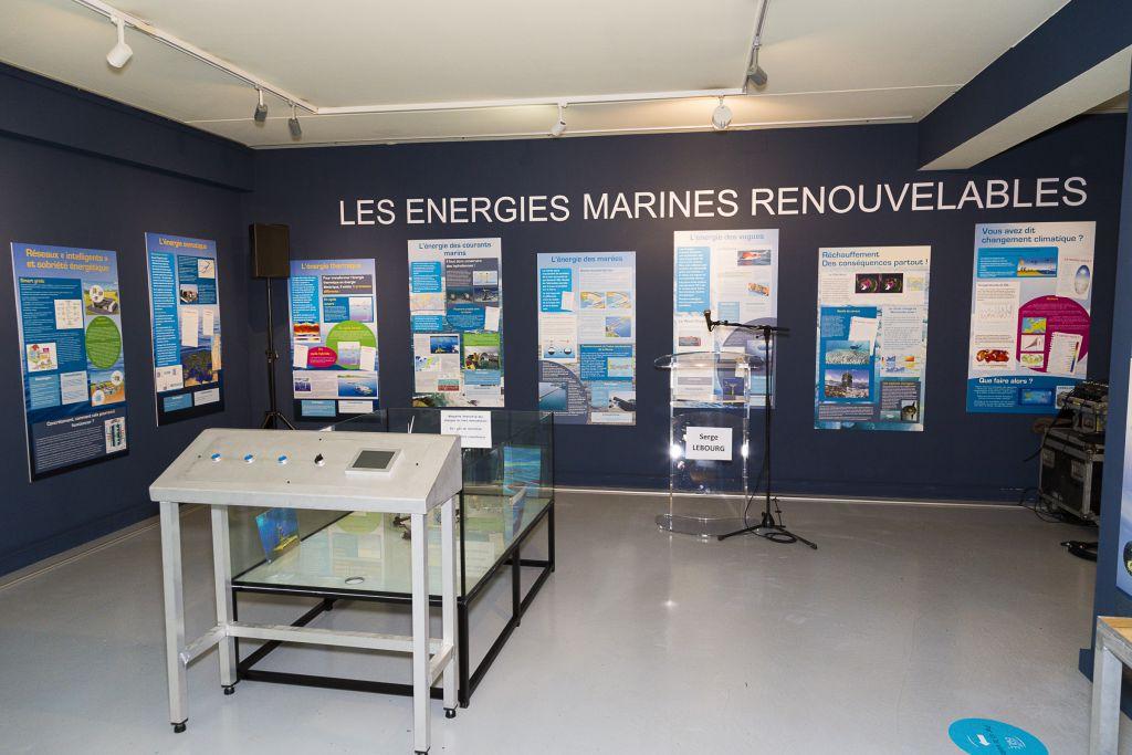 Photo prise lors de l'exposition permanente sur les énergies marines renouvelables à l'ESTRAN