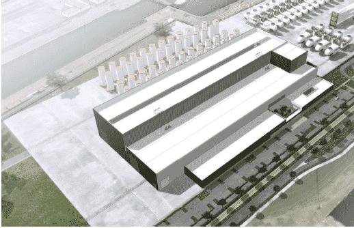 Photo utilisée pour les études d'avant-projet (AVP) et de concertation de l'entreprise Adwen dans les usines au Havre (Dieppe Le Tréport)