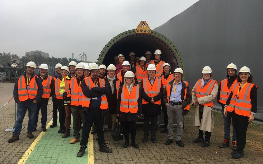 Des entreprises régionales visitent des usines Siemens Gamesa au Danemark