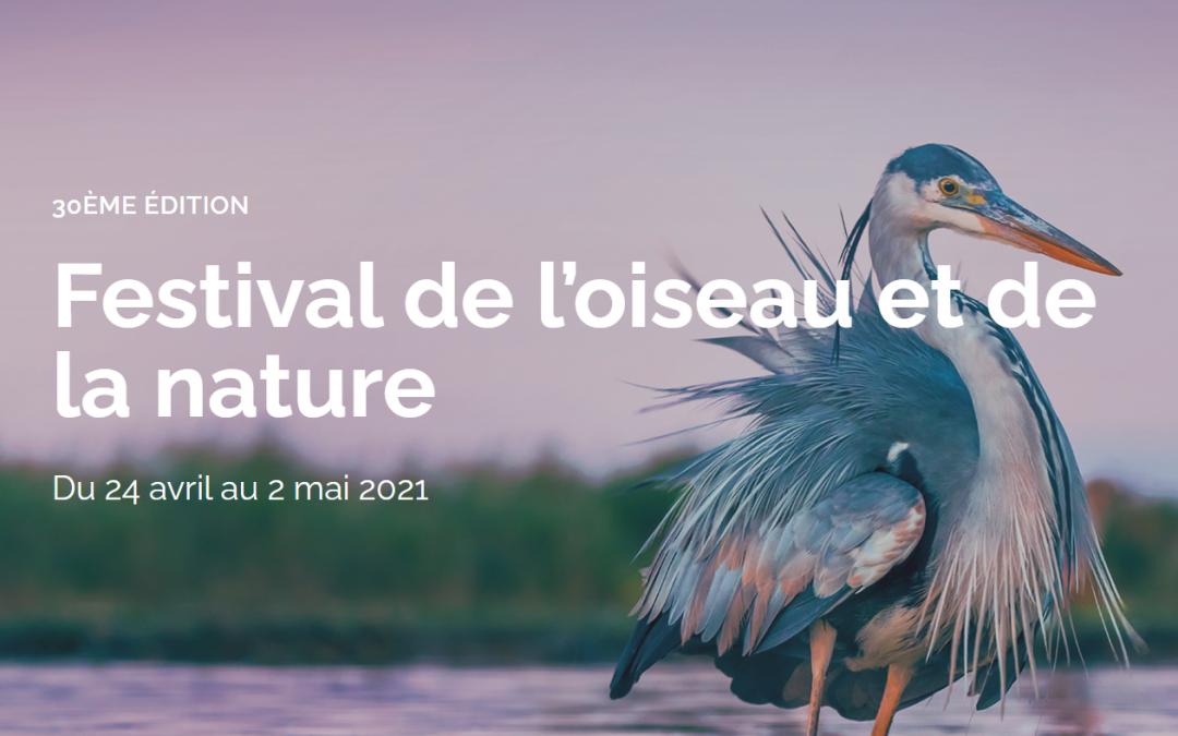 Notre partenariat avec le Festival de l'oiseau et de la nature