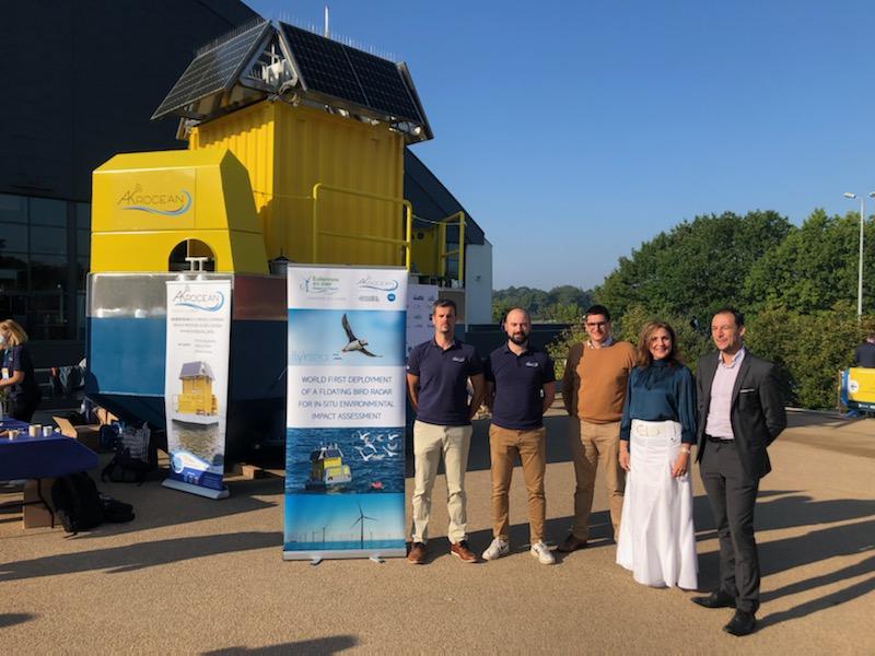 La zone du futur parc va accueillir le premier radar avifaune flottant en Manche